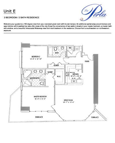 Floor plan E 2BR-2BH