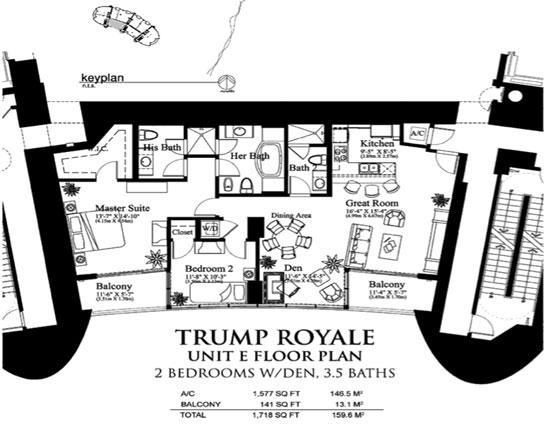 Trump Royale floor plan E
