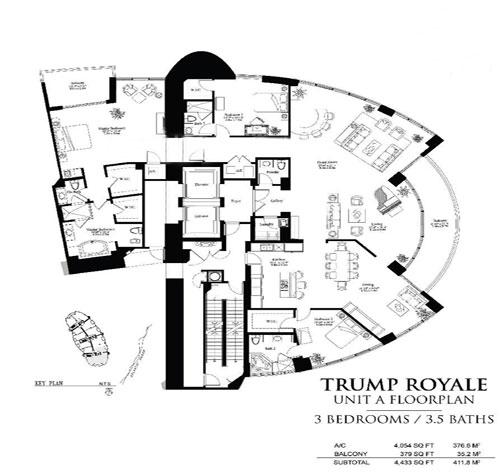 Trump Royale floor plan A