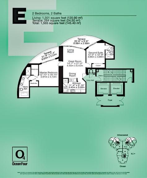 Ocean Four floor plans