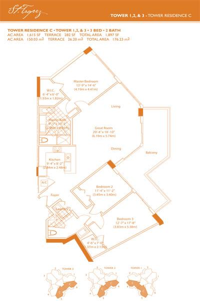 St Tropez floor plans
