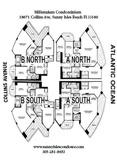 Millennium bay view floor plans