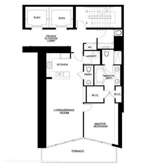 Sayn 1BR floor plan