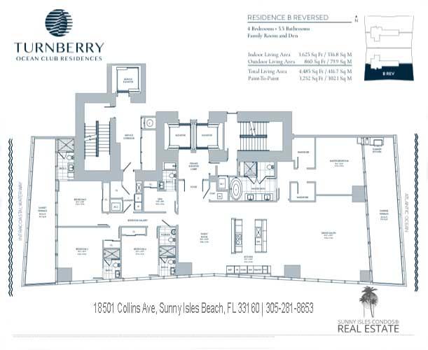 B turnberry ocean club floor plans