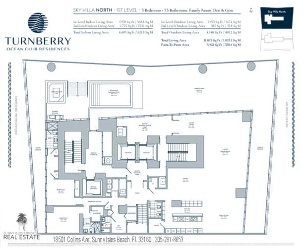 Sky Villa North turnberry ocean club floor plans
