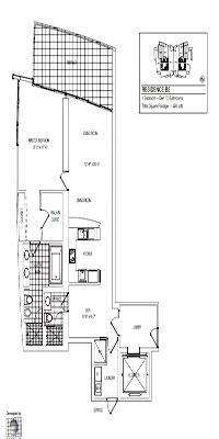 Jade Ocean floor plan 1+DEN
