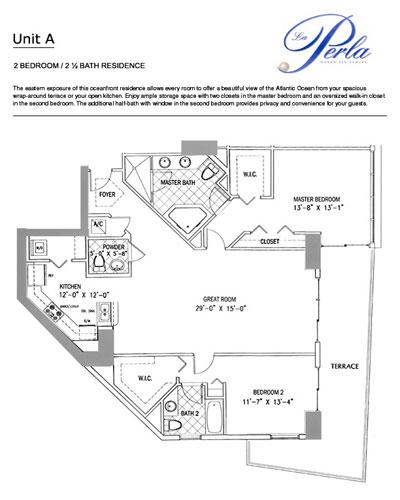 Floor plan 2BR-2.5BH