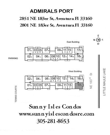 Admiral's Port Floor plans