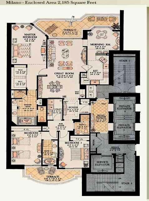 acqualina milano floor plan