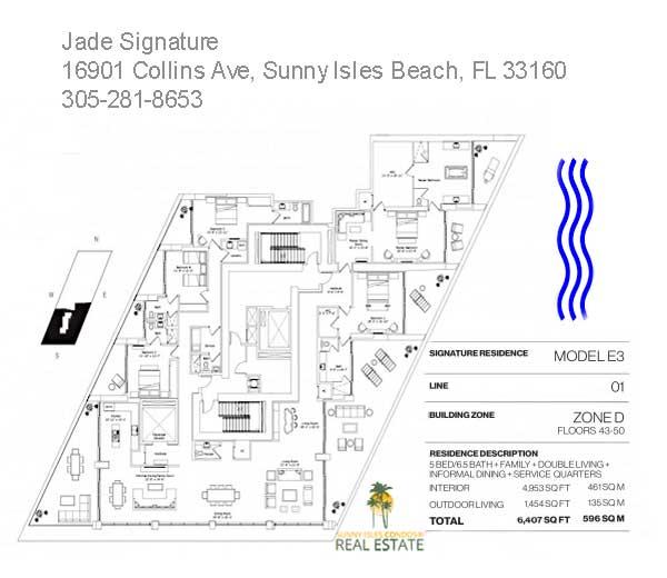 Model E3 line 01 jade signature