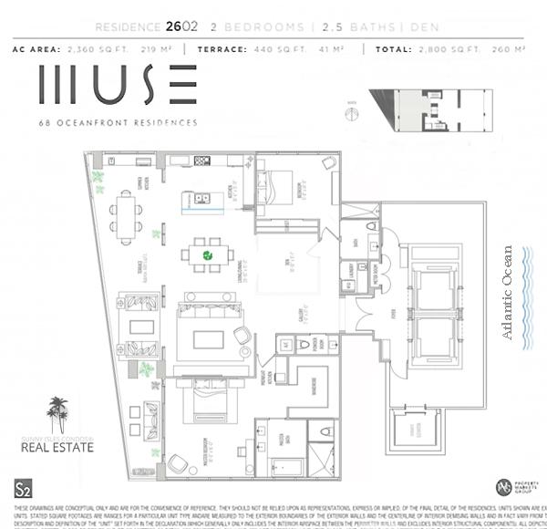 muse condo floor plan 2602 sunny isles beach