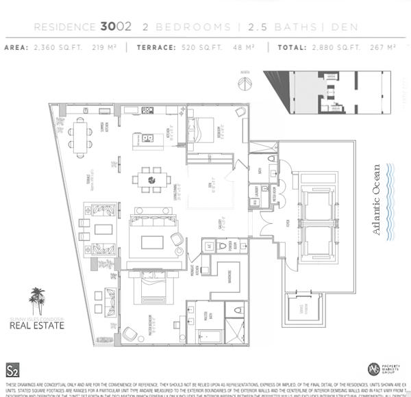 muse condo floor plan 3002 sunny isles beach