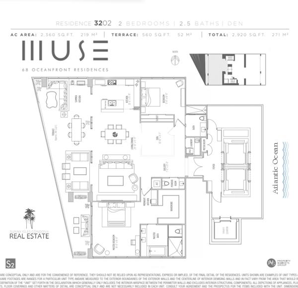 muse condo floor plan 3202 sunny isles beach