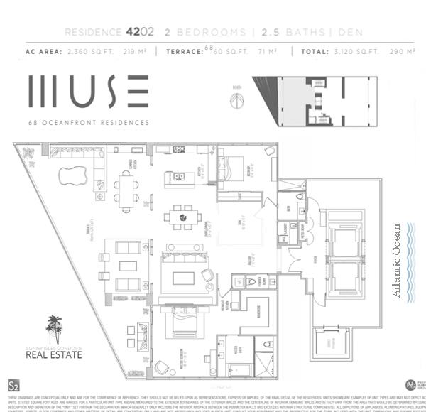 muse condo floor plan 4202 sunny isles beach